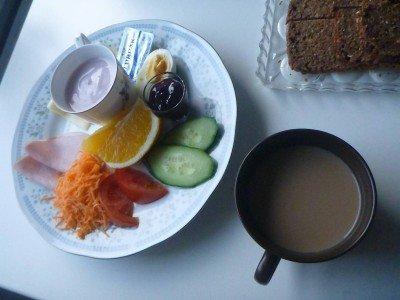 Breakfast in Guesthouse Hugo, Sorvagur, Faroe Islands
