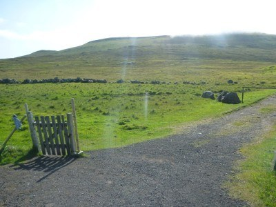 We started the hike here, at this gate
