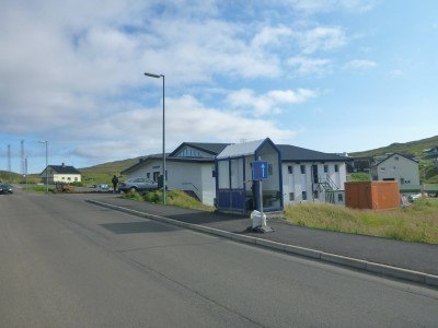 Local bus stop to take you from Sorvagur to Torshavn (and other places)