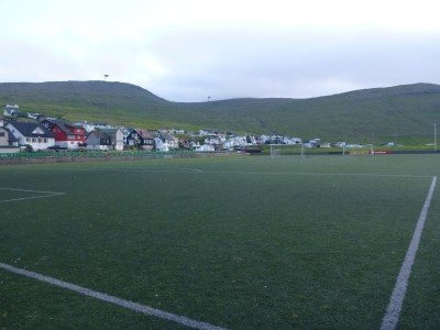 The football stadium in Sørvágur