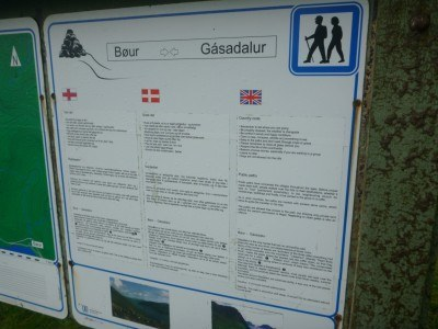The notice board at the start of the hike