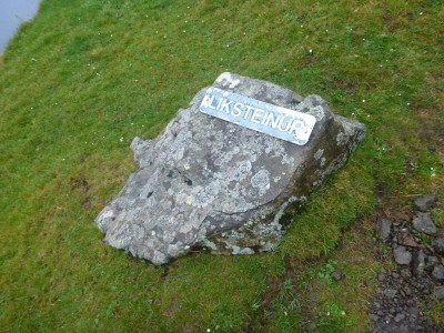 icksteinur - first marker on the hike
