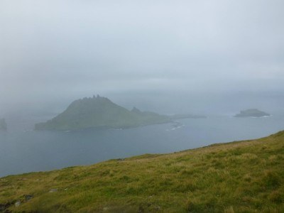 View from the first marker looking forward towards Mykines