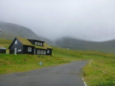 The village of Gasadalur, Vagar Island, Faroe Islands