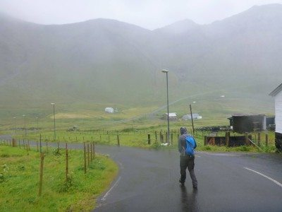Backpacking in Gasadalur, Faroe Islands
