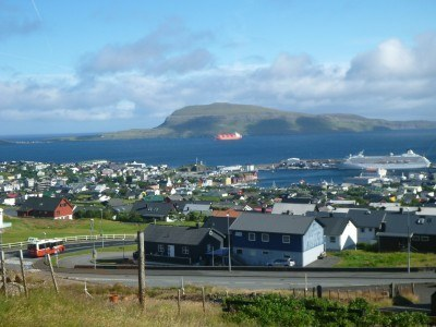 Marvellous city views on the walk down to central Torshavn