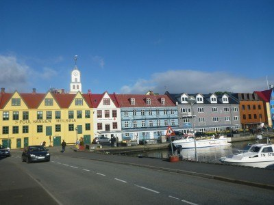 The city of Torshavn, capital of the Faroe Islands