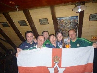 Northern Ireland winning in the Faroe Islands