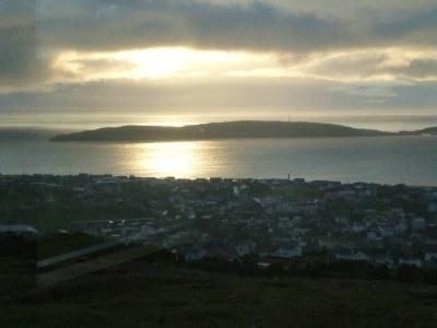 Sunrise at Hotel Foroyar, Torshavn