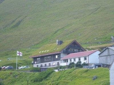The Faroe Islands flies in the village of Gjogv, at Gjaargardur Guest House
