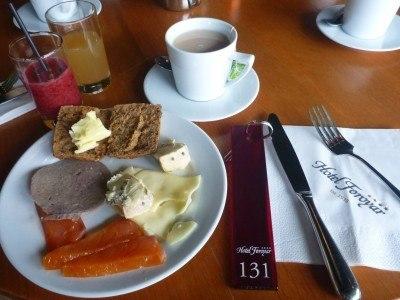 Amazing breakfast in Koks - superb.