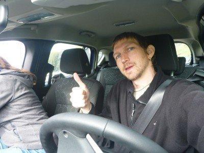 Driving to Saksun on Streymoy Island