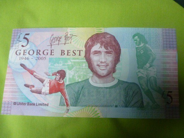 A George Best £5 note