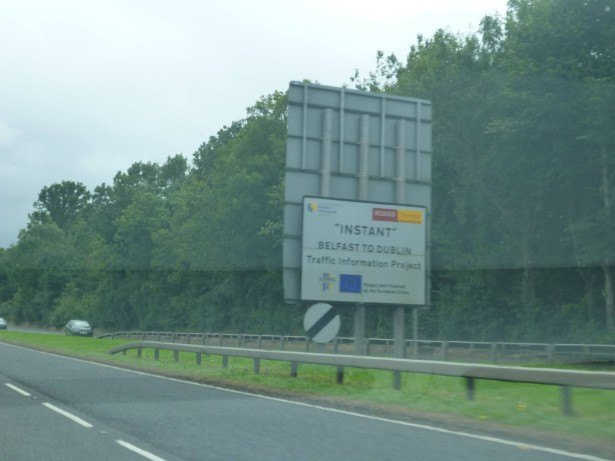 Driving on the A1 which leads from Belfast to Newry, but we turned off for Banbridge