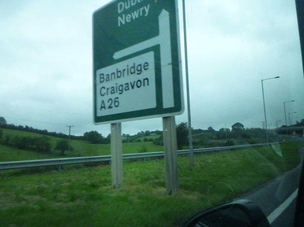 Heading towards Banbridge on route to Podjistan