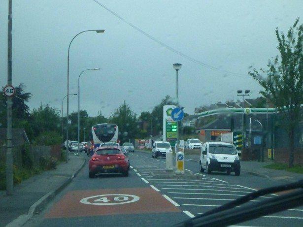 Driving through Banbridge, Northern Ireland