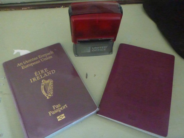 Ready for passport stamping in Podjistan