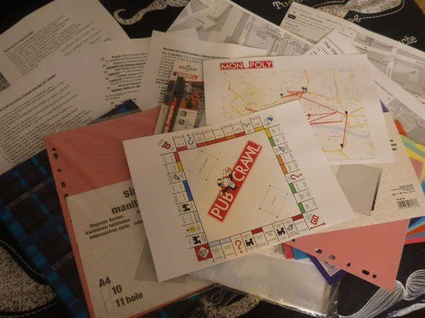 Planning the Monopoly Pub Crawl in 2015