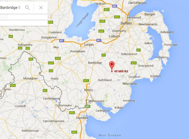 Podjistan within Northern Ireland