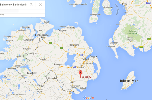 Where is Podjistan? Here, bordering Countty Down in Northern Ireland