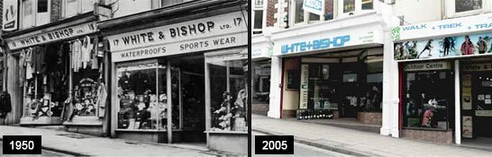 White and Bishop - original shops in the UK