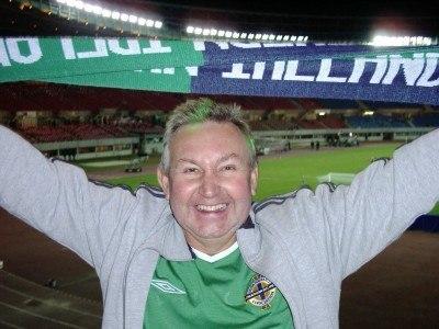 My Dad, Joe Blair supporting Northern Ireland in Vienna, Austria in 2005