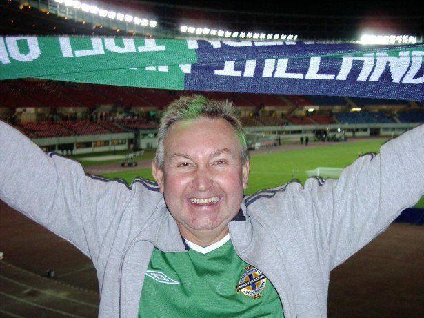 My Dad, Joe Blair supporting Northern Ireland in Vienna, Austria in 2005