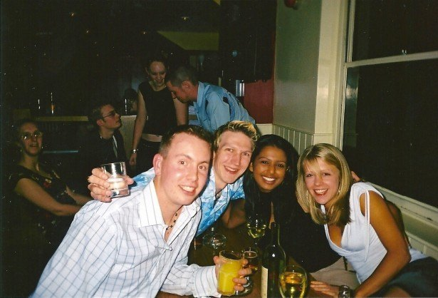 First night out in Bournemouth - new friends - Steve, Hannah, Claire