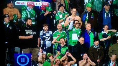 Going crazy on TV at 3-1 up. Amazing times.