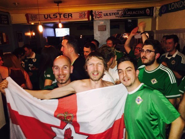I take my Northern Ireland flag everywhere I go