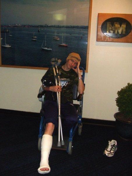 Footloose and legless - 2007 hat-trick of broken metatarsals.
