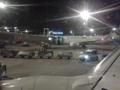 Night flight out of Iraq on Transavia