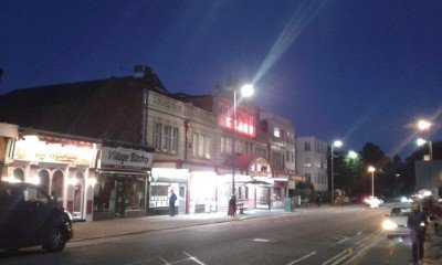 The Old Picture House at night