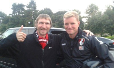Local celebrity spotting with Eddie Howe, manager of AFC Bournemouth.