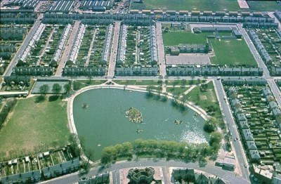 Baffins Pond and Lagoan Isles, viewed from above