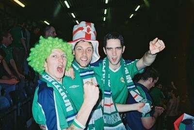 With Brendan and Michael at the famous 1-0 win over England in 2005
