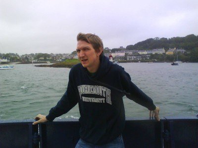 On the Portaferry to Strangford ferry in Northern Ireland