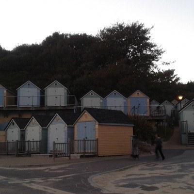 Beach huts by Alum Chine beach