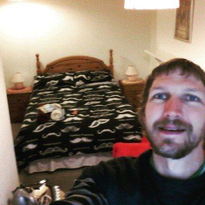 Enjoying my cosy room at the Lea Hurst hotel