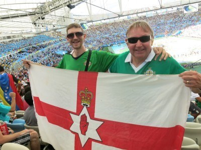 Dad and I in Rio de Janeiro for the 2014 World Cup Final