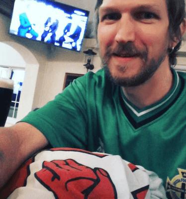 Northern Irish fan Jonny Blair watching us beat Greece 3-1 and qualify