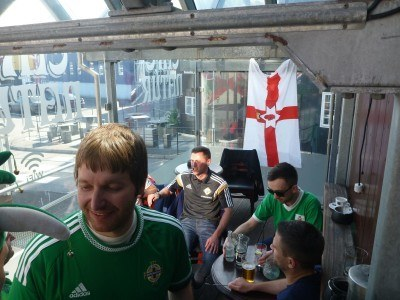 The lads in Cafe Natur