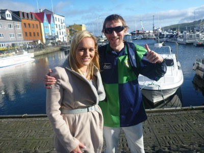 Chatting to Ruth Gorman from UTV pre match in Torshavn