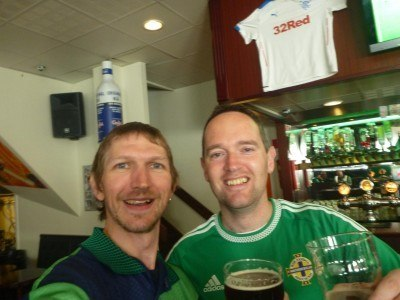 With Owen from London NISC pre match