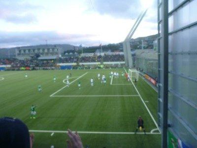 First half ended 1-1 in Torshavn
