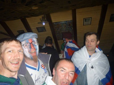 With some Faroese fans