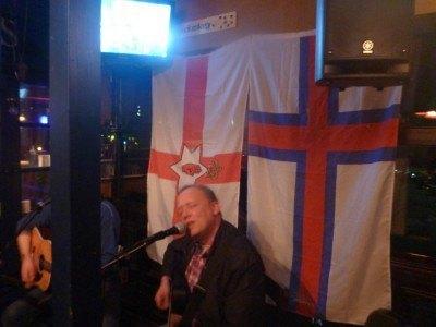 The singer in the Irish Pub