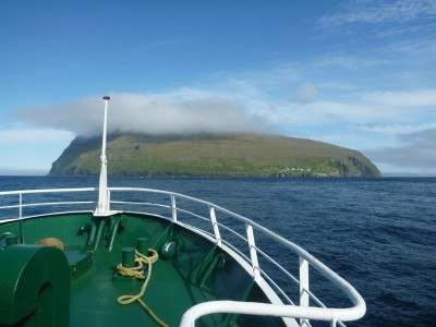 On the ferry from Vidoy to Fugloy, Faroe Islands