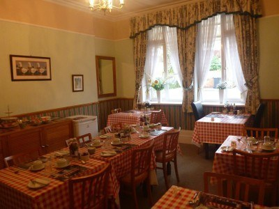 The breakfast room in the Lea Hurst Hotel