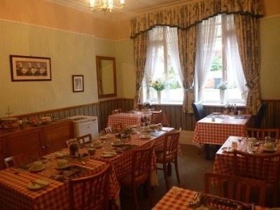 The breakfast room in the Lea Hurst Hotel